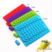 Wholesale Baby Cakes Tray - Novelty Creative 20 Cavity Silicone Snakes Worm Gummy Chocolate Mold Baby Party Shower Ice Cube Tray