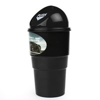 Wholesale Auto Trash Holder - Wholesale- Trash Rubbish Bin Can Garbage Dust Case Storage Holder Mini Office Home Auto Vehicle Car Car Styling #HP