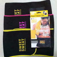 2017 hot Sweet Sweat Premium Waist Trimmer Men Women Belt Slimmer Exercise Ab Waist Wrap with color retail box