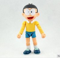 12cm Comic Doraemon Toy Model Nobita Nobi Dolls Figma Lovely Cartoon Robot Cute Japan Anime Action Figure Worldfreee shipping