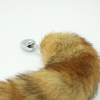 Wholesale Rosebud Metal Butt Plug - NEW !!! Stainless Steel Attractive Butt Plug Jewelry Jeweled Anal Plugs Rosebud + Fox Tail   dog tail