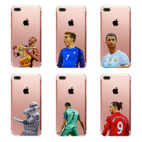 Wholesale Cool Iphone 4s Cover - Fashion cool basketball football star pattern clear PC hard case for iphone 6 6s 7 Plus 4s 5c 5s SE transparent phone cover