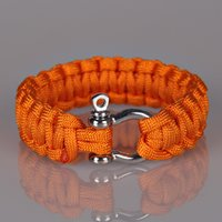 Wholesale Military Climbing Rope - 5Colors Emergency Bracelets Camping Aids Paracord O D Steel Buckle Retro Bracelet Military Bangles Men Survival Outdoor Climbing Rope Tools
