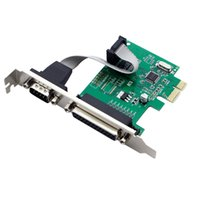 Wholesale Port Chip - RS232 RS-232 Serial Port COM & DB25 Printer Parallel Port LPT to PCI-E PCI Express Card Adapter Converter WCH382 Chip