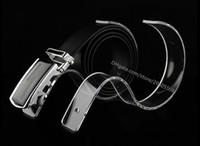 accessoires d'affichage acrylique achat en gros de-Livraison gratuite 10 pcs Boutiques de mode accessoires d'affichage présentoirs de ceinture acrylique présentoir ceinture ceinture titulaire de bureau
