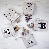 Wholesale Mini Folding Wall - Kids Storages Bag Mini Backpack Made Of Canvas Rectangle Snack Toy Package Bear Pande Love Storage Bags Playful Hot Sales 5sp D R