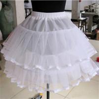 Wholesale Dancing Dress Petticoat - 2017 New Short Petticoats White 1 Hoop Free Size Formal Dress Bridal Crinoline Wedding Accessories Lady Girls Dance Underskirt