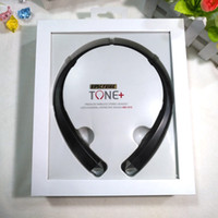 Wholesale Ear Headphones Cartoon - with logo In-Ear Wireless Bluetooth headphone Sport Earphones Headphone with MIC Stereo HiFi Headphone for iPhone Samsung Xiaomi HBS910