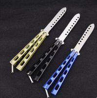 Wholesale China Fishing Tools - Made in China is not a butterfly knife edge Butterfly jilt C34 butterfly knife practice tools self-defense tool camping necessities