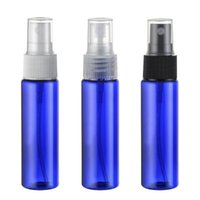 ingrosso vuote bottiglie blu pompa-Flacone in PET da 30 ml con pompetta colorata per confezioni cosmetiche, 1 flacone vuoto in plastica da 50 ml per medicina liquida 50pz / lotto