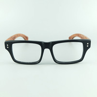 Wholesale Plastic Temples - Hand Made Natural Rosewood Glasses Frame High Quality Acetate Frame With Wood Grain Natural Wood Temples Optical Frame