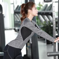Wholesale New Girls Tennis Clothes - New Breathable Women's Full Long-sleeve Sport Fitness Yoga Quick-drying T-shirt Workout Clothes Sports Tennis Lady Girl Shirt Clothes