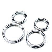 Wholesale Steel Male Chastity Set - Free shipping!!2016 8-shaped Cock Ring Twisted Penis Chastity Device Prevent the erection Stainess Steel Male Slave Bondage Set for men