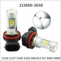 Haute qualité 12V / 24V H4 H7 H11 9006 3030 21SMD 7.5W 750LM LED Fog Light Led Daylight Running Light