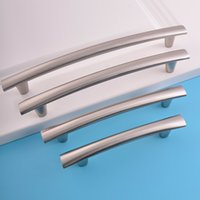 Wholesale Office Wardrobes - 128mm customized polish nickel aluminum alloy bar bedroom furniture office living room wardrobe cupboard kitchen cabinet drawer pull handle