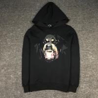 Wholesale Long Jersey Sweatshirts For Women - Fashion Classic Rottweiler Hoodie Punk Style Hooded Sweatshirt Fleece Christmas Hood For Men Women Jogger Jersey Sweaters YDG0824