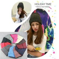 Wholesale Crochet Basics - Crochet Winter Top Hat Wholesale Beanies Plain Color Basic Style Woman Man Warm Kint Bucket Hats 12 Color Available
