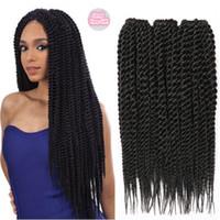 Wholesale Curly Weave For Braiding - Braiding Hairstyle For Black Hair Crochet Kanekalon Synthetic Braiding Hair Extensions Afro Kinky Curly Havana Mambo Twist Braiding Hair