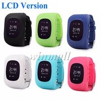 Wholesale Gps Tracker Lcd - LCD Q50 Kids GPS Tracker Smart Watch Phone SIM Quad Band GSM Safe SOS Call Smartwatch For Android & IOS