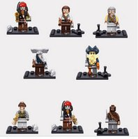 Wholesale Vehicle Jack - bricks mini figures 8PCS KSZ515 Pirates of the Caribbean Captain Jack Sparrow Super Heroes Building Blocks Children Gift Kids Gift Baby Toys