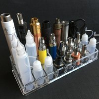 Estuche De Exhibición Baratos-Clear Acrylic Ecig display Soporte para estante Soporte Base Rack Box Showcase para EGO EVOD Vision Spinner Batería RDA Atomizer Mods Unicorn Bottle