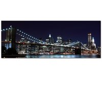 Wholesale Brooklyn Bridge Canvas - Brooklyn Bridge Picture Canvas Print New York Cityscape Canvas Photo Printing Home Wall Decoration