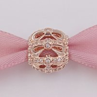 Wholesale bow charm pandora - 925 Silver Beads Shimmering Sentiments P-Rose bow Clear Cz Charm Fits European Pandora Style Jewelry Bracelets 781779CZ Rose Gold Plated