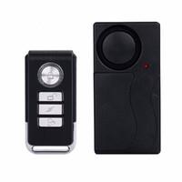 ingrosso allarme del rivelatore di vibrazioni-Pratico sensore di allarme di allarme di vibrazione del telecomando di telecomando della porta della porta del sensore di sicurezza domestica della casa dell'automobile