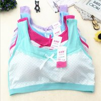 Wholesale Training Bra Sizes - Sports Bra cotton Teenage Underwear Students Bra Girls Training Bra For Kids top Cotton Vest Kids Intimates