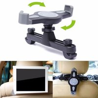 держатель сидения для планшетов оптовых-Wholesale- 360 Degree Car Mount Back Seat Headrest Holder Stand Bracket For iPad 2 3 4 5 mini 7-11 Inches Auto Tablet PC Bracket Kit NEW