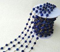 colliers de perles à facettes achat en gros de-Fabrication artisanale de bijoux en or, Natural Royal Jade stone Agate Faceted Beaded Chains, chaîne de collier bricolage fabrication de bijoux LZ03