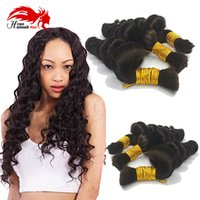 Wholesale afro hair for braiding for sale - Group buy Afro Loose Curly Brazilian Bulk Human Hair For Braiding Unprocessed Human Braiding Hair Bulk No Weft Natural Black B