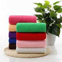Wholesale Microfibre Drying - 30x70CM 30gsm Microfiber Car Cleaning Towel Microfibre Detailing Polishing Scrubing Waxing Cloth Hand Towel Beauty Hair Dry Towel