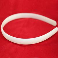 Wholesale White Plastic Hoops - 40pcs 8mm Headbands Plastic hairbands Ladies Girls Kids Simple Style Hair Hoops No Teeth White Hair Bands