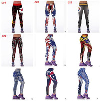 Wholesale Wholesale Womens Tracksuits - Women Leggings 2017 Football Club Womens 3d Galaxy Printed Leggings for Women Workout Tracksuit Yoga Stretch Tights Sport Leggings 34