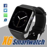 Wholesale Galaxy Systems - X6 Bluetooth Smart Watch SmartWatches For Samsung Galaxy S8 S8Plus Note8 Support Camera SIM Card For Android IOS System With Retail Package