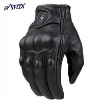 All'ingrosso- 2015 Retro Pursuit Guanti Motociclisti Real Leather Perforati Moto Guanti Impermeabili Motorcycle Protective Gears Guanto Motocross