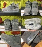 Wholesale Retro Products - 2017 New Products Air Retro 4 IV Kaws x Cool Grey Men Basketball Shoes Men Sports Retros 4s Sneakers Trainers With Box 8-13