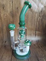 Wholesale Mushroom Pipe Smoking - Bong! Mushroom Colorful Glass Bongs Pipes Water Smoking Pipe Bongs Oil Rig Glass Heady Glass Rigs Dab Rig with bowl