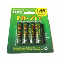 Wholesale Toy Camera Case - 4pcs lot Rechargeable BPI AA 2500mWh NI-Zn NI Zn NIZN 1.6V Battery With Case for Toys, MP3, Camera + Free Shipping