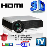 Wholesale Video Advertising - LED86 Digital LED Home Education Projector Engineering Theater Projection 4000Lux Full HD Business Advertising 3D Projector Projection