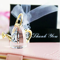 Wholesale Crystal Favor Baby - Wedding Crystal Ink Bottle Champagne Bottle Table Lamp Shower Gift Fashion Christmas Gift Baby Full Moon Favor Gift