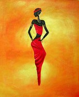 Wholesale Africa Figure - Free Shipping ,Lots Wholesale ,Canvas Wall Art Abstract Africa Oil Painting Modern Decor Hand Painted, Any customized size accepted