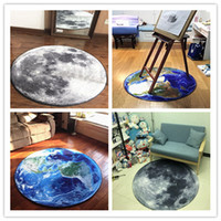 Wholesale Earth Moon Mars Earth Round Mat cm cm cm cm cm Carpet Living Room Doormat rugs Yoga chair Mats tapete capacho