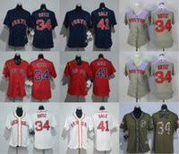 Wholesale Women Red Service - 2017 Women Majestic Stitched Boston Red sox 34 David Ortiz 41 Chris Sale White Red Blue Grey Green Salute To Service Cool Base Jersey