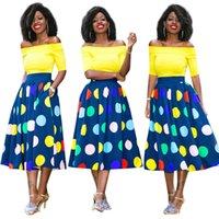 Wholesale Tz Dress - 2017 NEW Fashion Polyester Flora Printed Dresses Printing Two Piece Suit Dress Skirt Pendulum Skirt TZ 0005