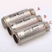 Wholesale R6 Muffler - Universal 61MM Modified Motorcycle Motorcross Scooter Akrapovic Exhaust Pipe Muffler Z750 Z800 Z1000 R1 R3 R6 MT03 MT07 EXC MT09