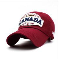 8d43370bfa4d3 Canada 1945 100% coton brodé casquette chapeau de baseball de femmes de  mode casquette de baseball chapeau de sport Livraison gratuite