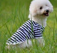 Wholesale Can Sweatshirts - Dog's Summer Clothes Stripe Shirt For Pets 6 Designs 5 Sizes Can Be Choosed Mesh Material