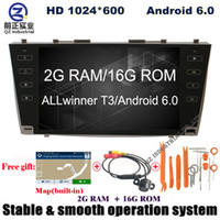 Wholesale Toyota Camry Navigation Screen - HD 1024*600 2G 16G Android 6.0 for Toyota Camry 40 Aurion 2006-2011 car dvd player with GPS WIFI 3G 4G Radio SUB SWC BT navigation free map